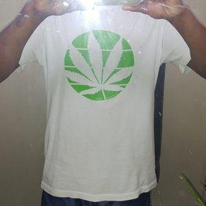 Bella Canvas Shirts - Mushroom Island Nuglife (Green leaf) White Tee